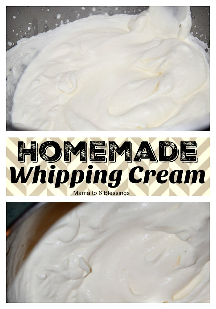 whipping cream