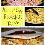 Ham and Egg Breakfast Taco's