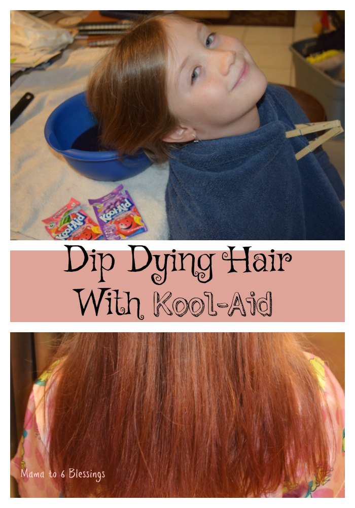 Dip Dying Hair With Kool Aid Mama To 6 Blessings