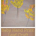 Baby Hand Print Leaf Craft For Little Ones
