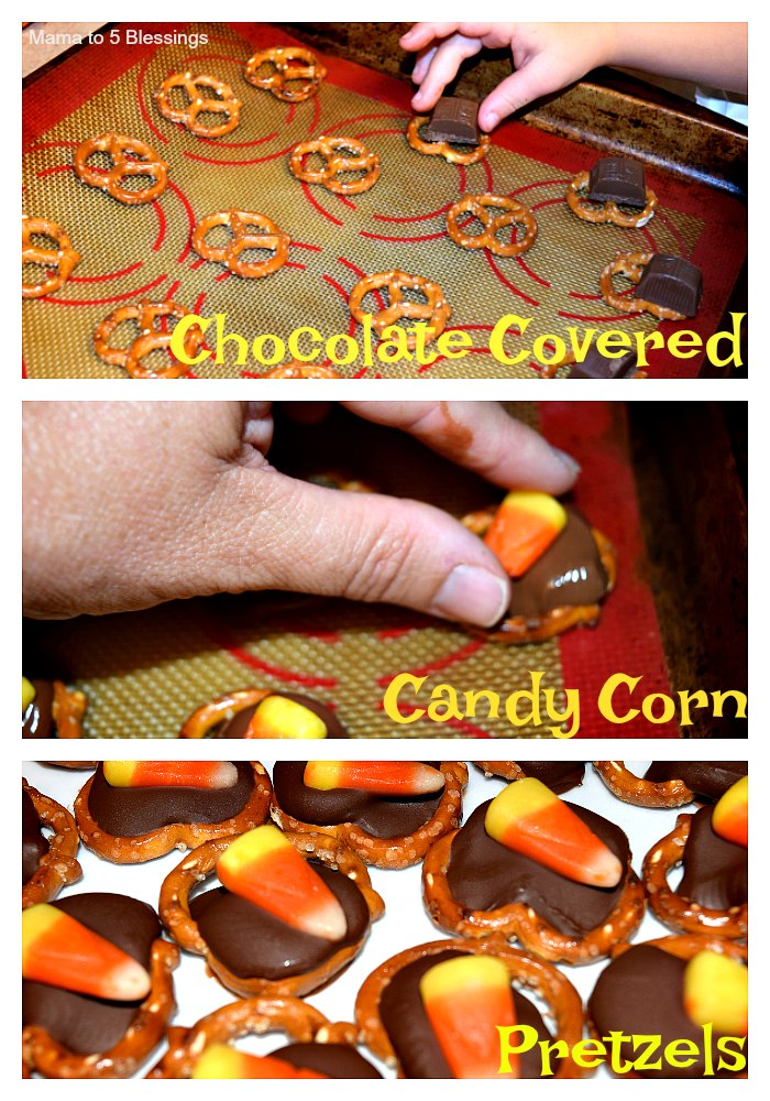 Chocolate Covered Candy Corn Pretzels Mama To 6 Blessings