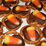 Chocolate Covered Candy Corn Pretzels