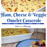 Ham, Cheese & Veggie Omelet Casserole