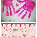 Valentine's Day Handprint Hearts Craft