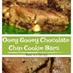 Ooey Gooey Chocolate Chip Cookie Bars #ChocolateChipDay