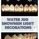 Water Jug Snowmen Light Decorations