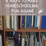 8 Ways to Make Homeschooling Fun Again!
