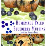Homemade Low Carb (Paleo) Blueberry Muffins #NationalBlueberryMuffinDay