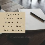 Quick Tips On How To Stay Out Of Debt (Keel Associates)
