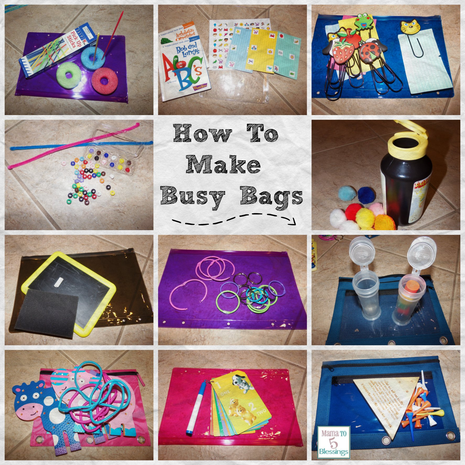 How To Make Busy Bags To Keep Your Little One Busy