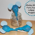 Mickey Mouse Party Favor Lollipop Wrappers #Disneyside