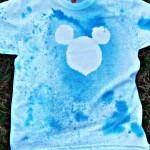DIY Mickey Mouse Spray Silhouette T-Shirt #DisneySide