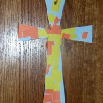 Easy Toddler Mosaic Cross Crafts (Learn & Link With Linky)