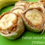 Peanut Butter Banana Pinwheels (Learn & Link WITH Linky)