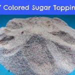 DIY Colored Sugar Topping