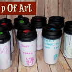 Teacher Thank You Gift (Cup Of Art) Learn + Link With Linky