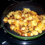 Homestyle Cheesy Potato Hashbrowns Made in the Green Earth Pan by Ozeri