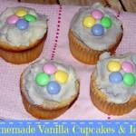 Homemade Vanilla Cupcakes & Icing