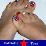 Patriotic Toe Nails