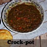 Crock-Pot Lentil & Ham Soup