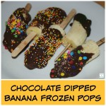 Chocolate Dipped Frozen Banana Pops Made By Kids (Learn & Link)