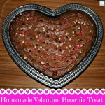 Homemade Valentine Brownie Squares Using My Flutes And Pearls Heart Dish
