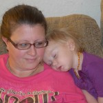 Mama At Work With Sleeping Side Kick! (Almost) Wordless Wednesday With Linky