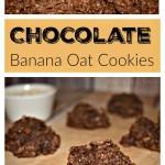 Chocolate Banana Oat Cookies
