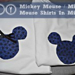 Do It Yourself Mickey Mouse / Minnie Mouse Shirts In Minutes!