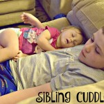 Sibling Cuddle Time (Almost) Wordless Wednesday With Linky