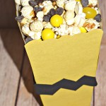 The Peanuts Movie Showing Party & Charlie Brown Popcorn Treat Recipe