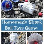 Homemade Shark Ball Toss Game