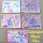 Colorful Rain Art #KidsCraft