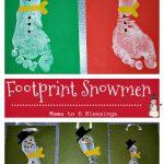 Footprint Snowmen – Kids Craft