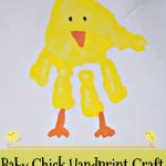 Baby Chick Handprint Craft