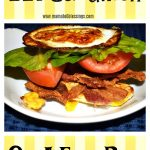 BLT Sandwich On A Egg Bun #Keto #Paleo