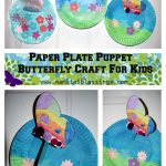 Paper Plate Puppet Butterfly Craft For Kids
