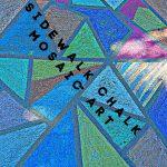 Sidewalk Chalk Mosaic Art